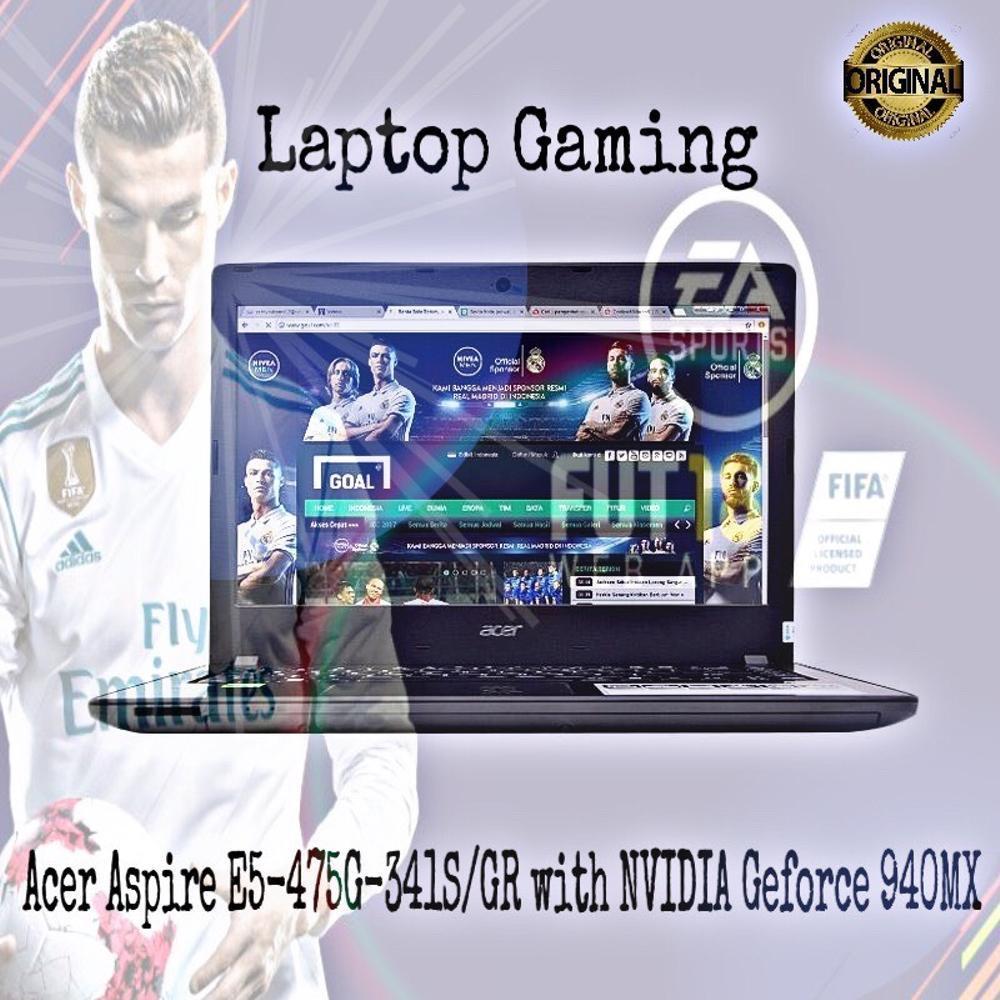 Laptop Gaming Acer E5 475g 541u Core I5 7200u Kabylake 4gb 1000gb Aspire Gr Intel 341s I3 6006u Ram 2gb Hdd