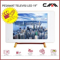 PROMO TV MONITOR LED 19 Inch - CMM - USB Movie - Fitur Lengkap - PUTIH