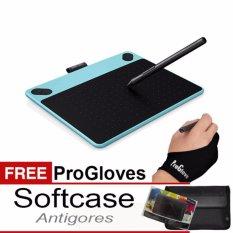 PROMO !!!Wacom Intuos Draw CTL490 Pen Tablet - Mint Blue+Fee Softcase+ Antigores dan Glove