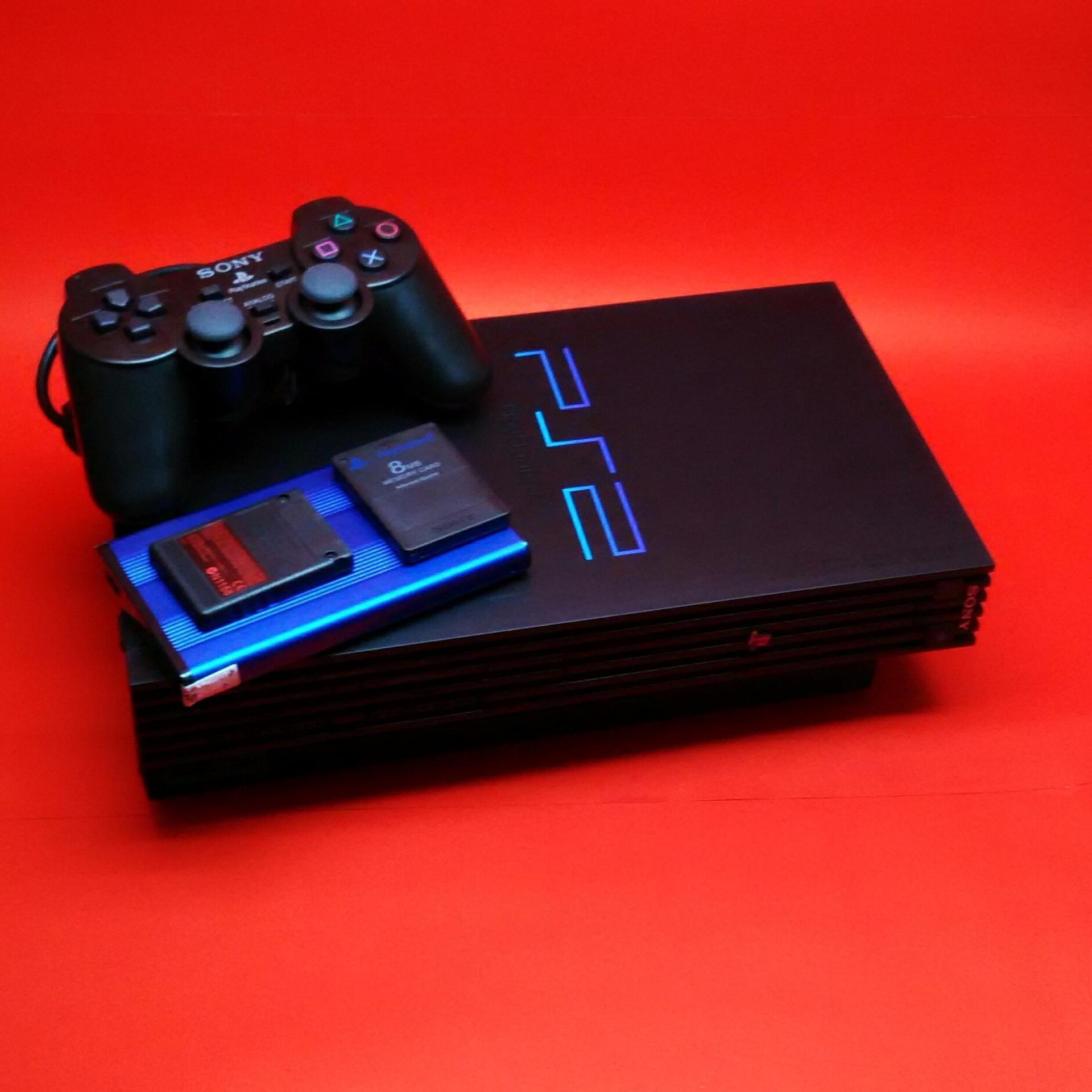 Online Murah Ps2 Sony Playstation 2 Usb Harddisk 40 Gb Console Black Hardisk External 40gb Free Games Mmc