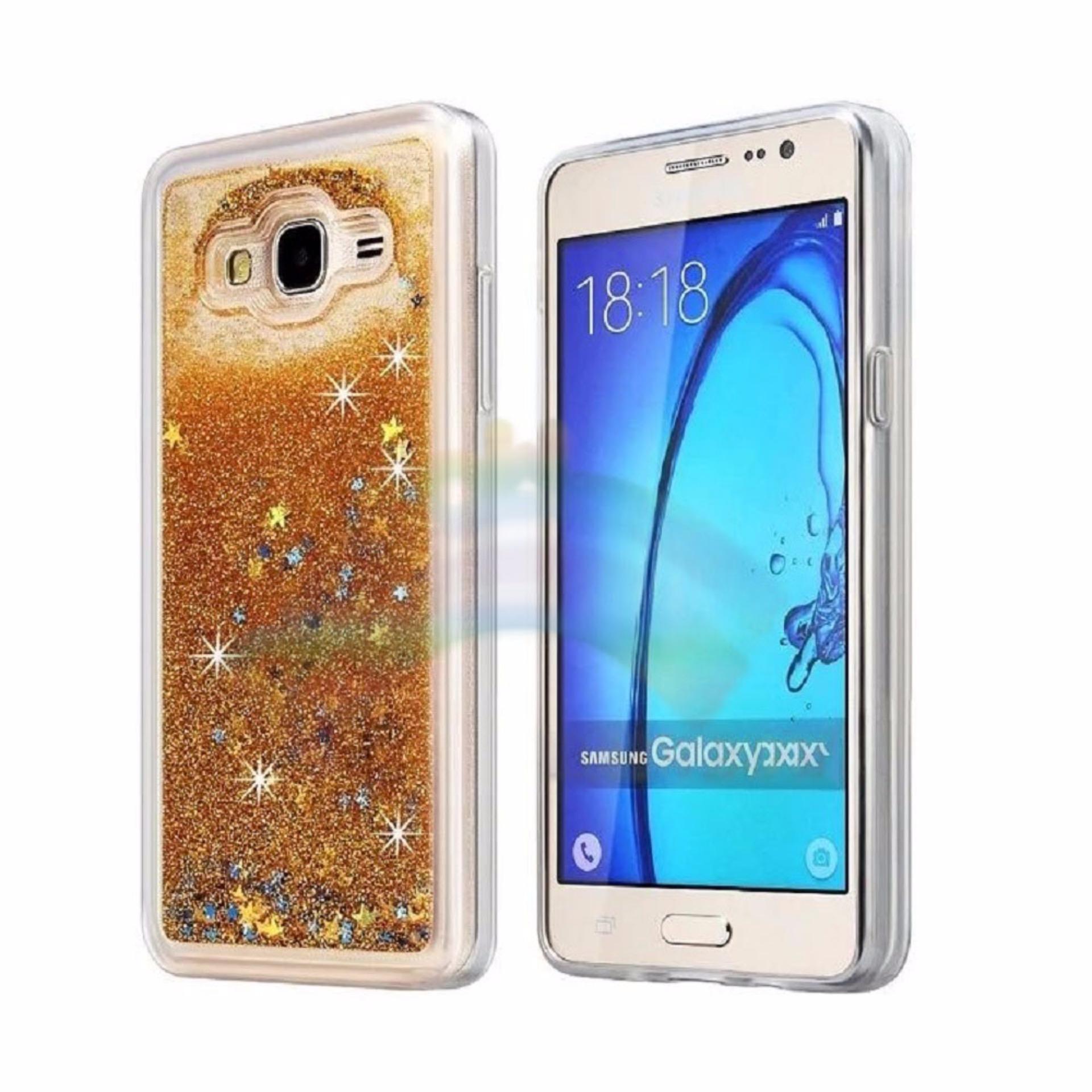 Rainbow Samsung Galaxy J1 Ace J110 Soft Case Water Glitter GlowingStar TPU Silikon