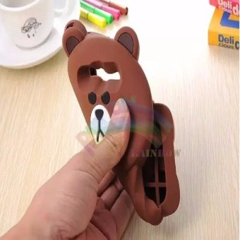 ... Samsung Galaxy Grand Prime G530 Silicone 3D Brown Bear . Source · Rainbow Xiaomi Redmi Note 4 Silicone Soft Back Case 3D KarakterBeruang Cokelat Lis .