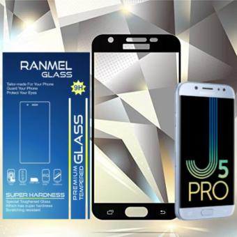 Ranmel Glass Tempered Glass for Samsung Galaxy J5 Pro Full Hitam - Anti Gores Kaca /