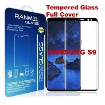 Ranmel Tempered Glass for Samsung Galaxy S9 - Anti Gores - Hitam - Rounded Edge 2.5