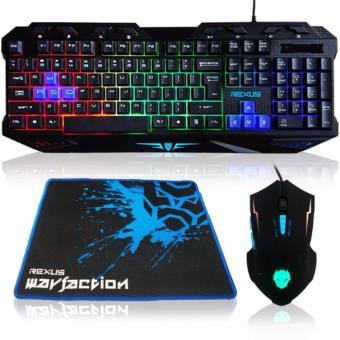BELI SEKARANG Rexus Keyboard Mouse Mousepad Combo Gaming VR1 Warfaction Backlight - Hitam Klik di sini !!!