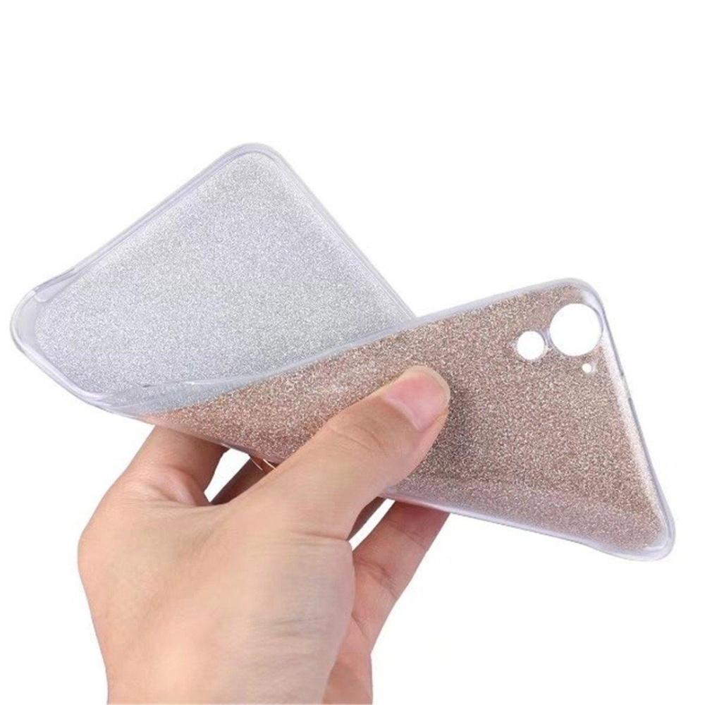 ... Ring Holder Kickstand Slim Thin Flexible Bling Glitter Sparkle TPU Rubber Gel Case Shock-Absorption ...