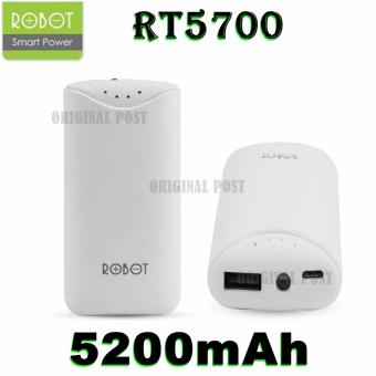 ROBOT Smart Power Powerbank RT5700 Portable Charger For Smart Phone 5200mAh