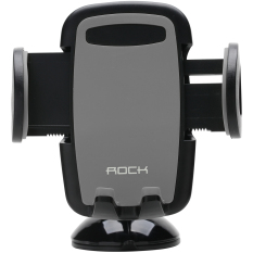 Rock Deluxe Windshield Phone Holder for Apple (Black/Grey)