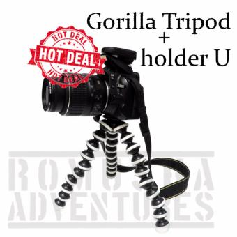 Romusha Gorilla MIni Tripod Lentur/Flexible Untuk Kamera/Handphone