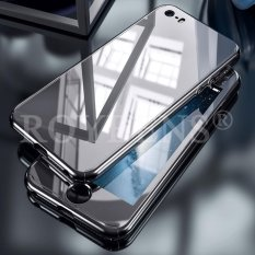 Roybens 360° Full Hybrid Acrylic Hard Mirror Case Cover + Tempered Glass For iPhone 5