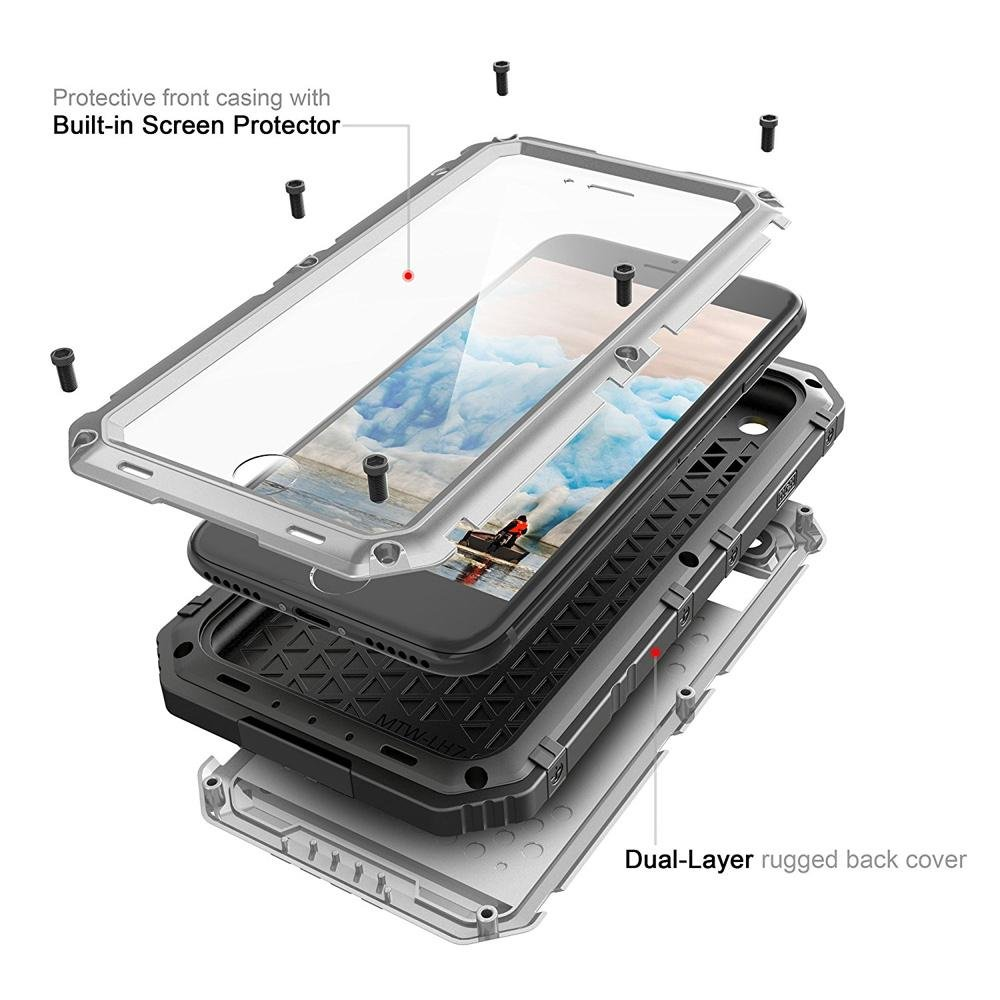 Rugged Combo Case with Waterproof Dustproof Drop proof Anti explosion for iPhone 6 .