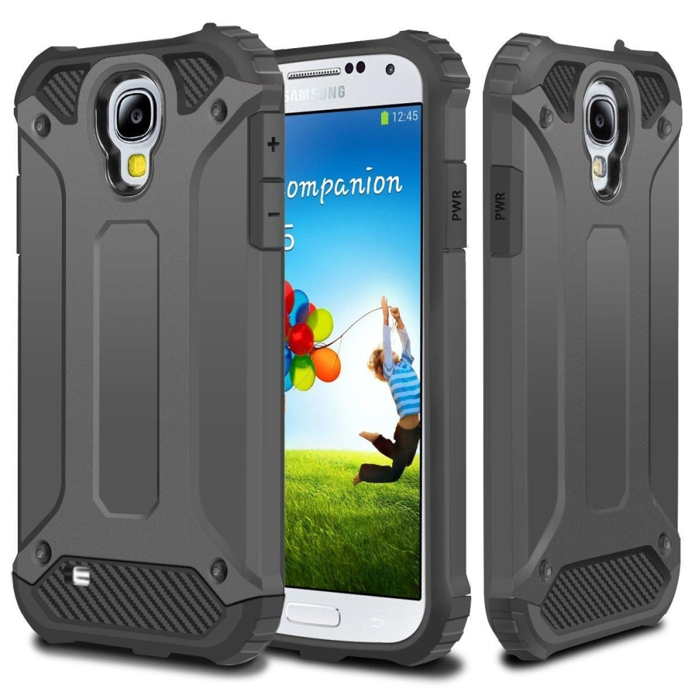 Rugged Hybrid Dual Layer Hard Shell Armor Protective Back CaseShockproof Cover for Samsung .