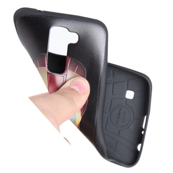 RUILEAN Soft TPU Case For LG K10 Dummy Doll 3D Embossed PaintingSeries Protective Cover .