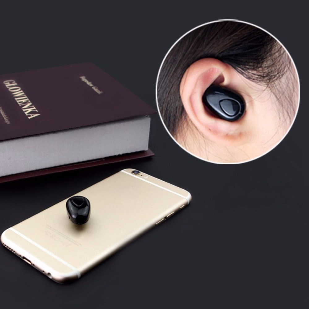 ... S520 Mini Wireless Stealth In-ear Earpiece Bluetooth EarphoneCordless Blutooth Stereo Earbuds for iPhone Samsung ...