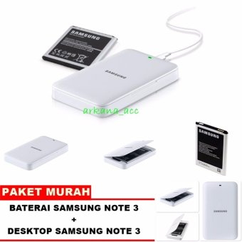 Samsung Baterai Galaxy Note 3 + Paket Desktop [ Extra Baterai Kit Samsung note 3 ]