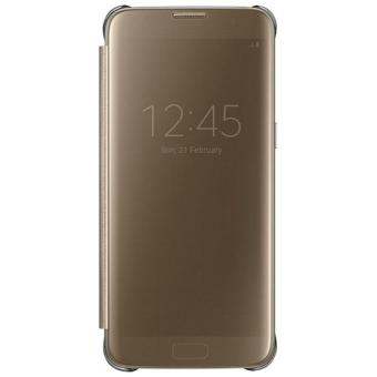 Samsung Galaxy S7 Flat Clear View Cover Original Gold