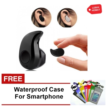 Samsung Headphone In-Ear For Smartphone Android & iOS - Hitam +Free Waterproof Case