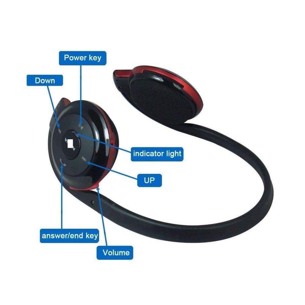 Super Mini Stereo Headset Bluetooth Nirkabel Tidak Terlihat V41 Soundplus Athena Earphone  Neckband Wireless Biru Samsung Sbh 503 Hitam High Copy