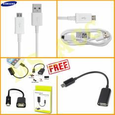 Samsung Kabel Data Micro Usb + Free Kabel OTG .