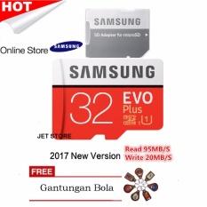 Samsung Memory Card microSDHC Evo Plus 32GB / 95MB/s - Merah + Gantungan Bola Random