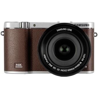 Samsung NX3000 Kit 16-50mm Smart Camera - 20.3MP - Cokelat