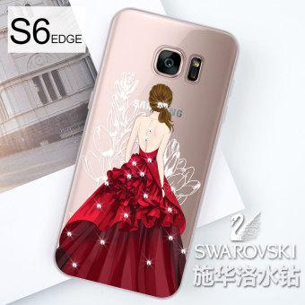 Jual Samsung S7edge/S7/S6 EDGE/S6 Imut Batu Kristal Air Bungkus Penuh Lagu Sarung Gel Silika Casing HP Terpercaya