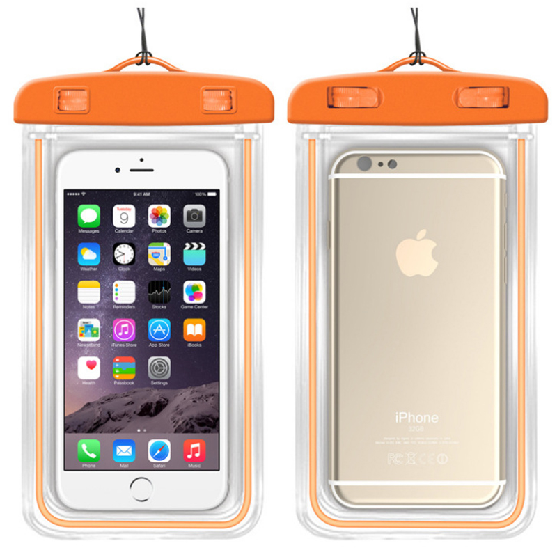 Samsung transparan hanyut berenang tahan air layar sentuh set ponsel tas tahan air .