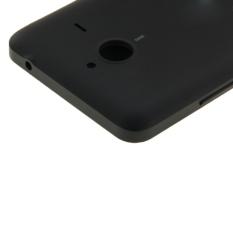 Sandal kulit penutup + pengganti plastik untuk Microsoft Lumia 640XL (Hitam)
