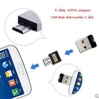 SanDisk CZ33 USB 2.0 Pen Drives 32GB mini USB flash drive + OTG adapter OTG function Turn into Phone USB stick(32GB) - intl - 2