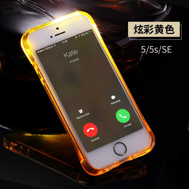 Se iphone5s apel bercahaya lengan pelindung shell telepon