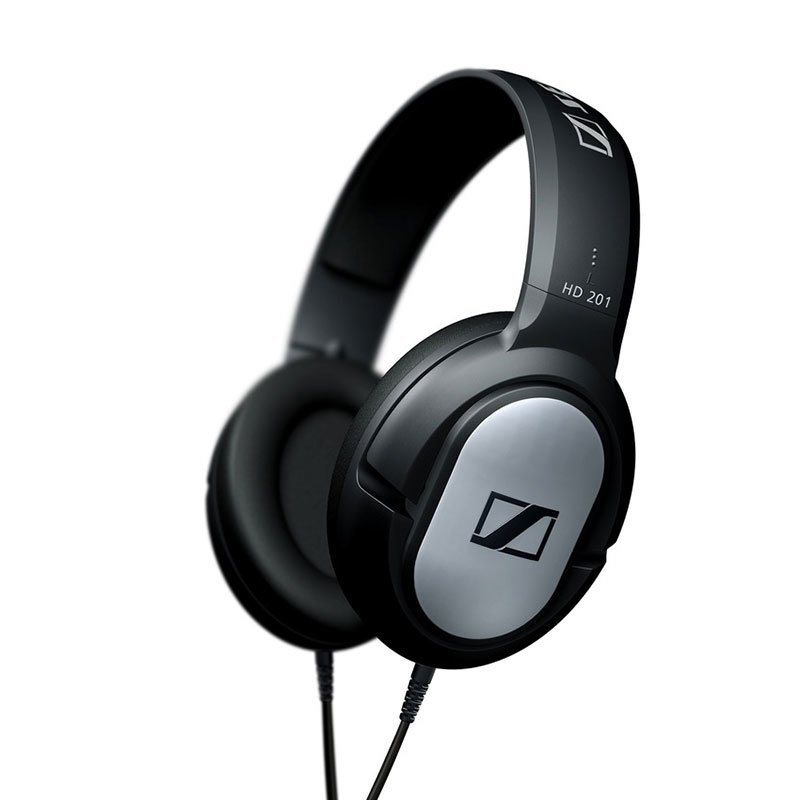 Sensitivity108dB Sennheiser HD 201 Headphone - Hitam