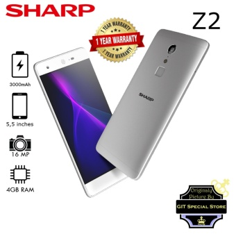 Sharp Z2 4/32GB 16Megapixel Camera Dual Simcard 4G LTE Silver Deca Core Processor Garansi