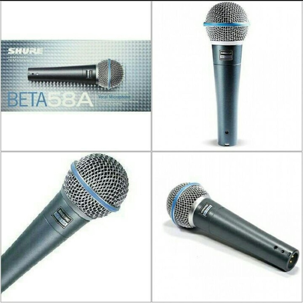 ... shure beta58A OEM mikrofon kabel cable mic / mik mikrophone / microphone profesional vocal legendaris artis ...
