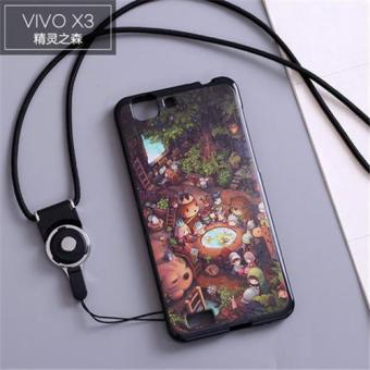 Silica Gel Soft Phone Case for Vivo X3/X3T/X3S with a Rope (Multicolor)