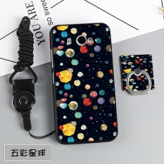 Silica Gel Soft Phone Case for Xiaomi Mi 2/2S with a Rope and a Ring (Multicolor) - intl