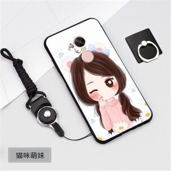 Silica Gel Soft Phone Case for Xiaomi Redmi Note 4X prime /XiaomiRedmi Note 4 (4GB+64GB) with a Rope (Multicolor)