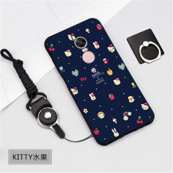Silica Gel Soft Phone Case for Xiaomi Redmi Note 4X prime /XiaomiRedmi Note 4 (4GB+64GB)with a Rope (Multicolor)