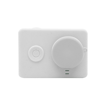 Silicon Case and Lens Cap untuk Action Cam Xiaomi Yi - Putih