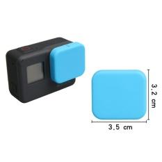 Silicone Pelindung Lens Cap untuk GOPRO HERO 5 Black Blue-Intl