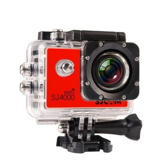 SJCAM Original SJ4000 WiFi Version Full HD 1080P 12MP Action Camera 30m Waterproof Sports DV Red - intl