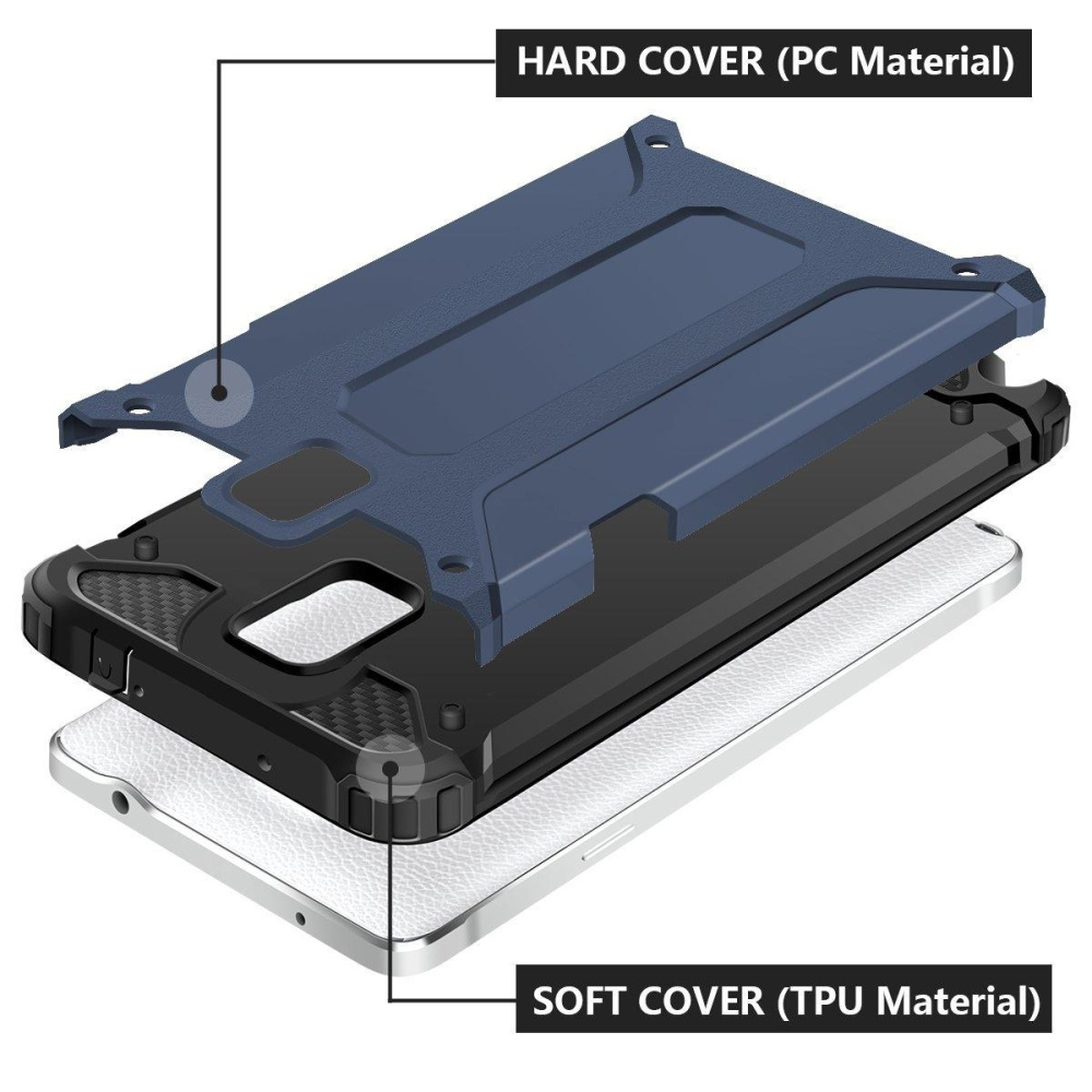 Slim Fit kasar Hybrid Dual Layer cangkang keras Armor tahan benturan Bumper pelindung .