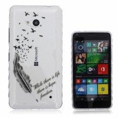 Slim Soft Gaya Fleksibel TPU Bumper Silicone Scratch-Proof Pelindung Kulit Back Case untuk Microsoft Lumia 640 LTE Cover (hitam) -Intl