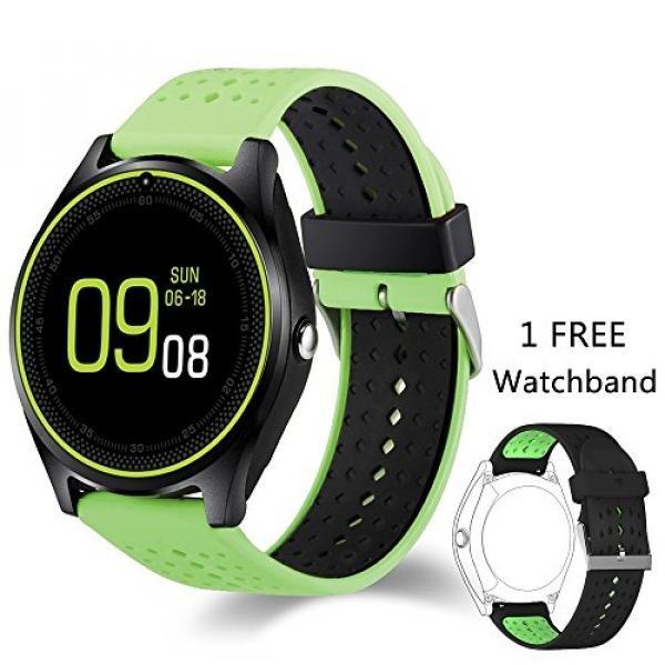 Permalink to Smart Watch, DADU KOO V9 Bluetooth Smartwatch Touchscreen dengan Kamera, smartphone Mendukung SIM/TF Card Insert dengan Manajemen Kesehatan untuk Android Samsung IOS IPhone 7 Plus 6 S Pria Wanita Kids Boys (Hijau) -Intl Promo