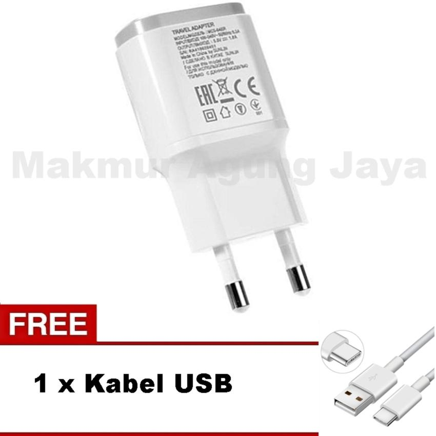 SAFE CHARGER WITH KABEL USB FOR SMARTFREN ANDROMAX I3I3S PUTIH. Smartfren Adapter Travel Charger +