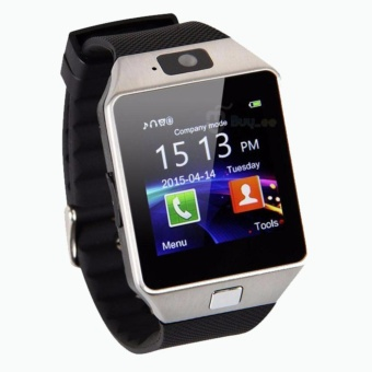 SMARTWATCH U9 DZ09 Jam Tangan SIM Card Bluetooth Limited Edition - Silver