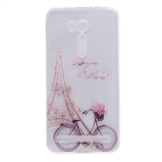 Soft Silicon Slim Back Cover Case for Asus ZenFone Go ZB551KL 5.5inch - Bike and