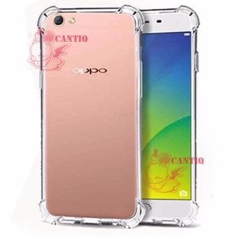 Softcase Anti Crack Oppo A57 / Case Anti Shock Oppo A57 /SiliconAnti Crack Oppo A57 / Back Case Anti Crack Oppo A57 - White Clear