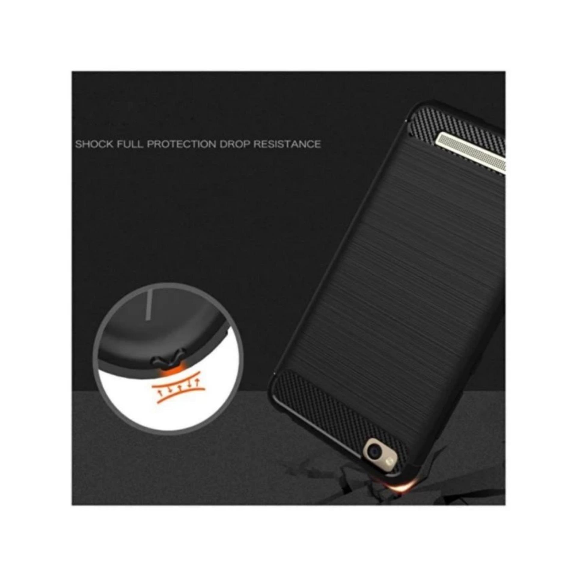 Softcase ipaky Ori 100% fiber Carbon Hybrid Back Case for xiaomiredmi 4 a - Black