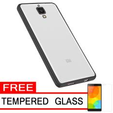 Cari Bandingkan Softcase Silicon Jelly Case List Shining Chrome for Xiaomi Mi 4 - Black + Free Tempered Glass Perbandingan harga