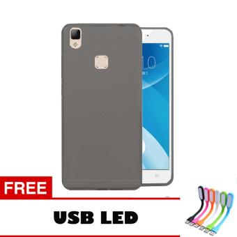 Softcase Vivo V3 Ultrathin Aircase - Hitam + Free Usb Led